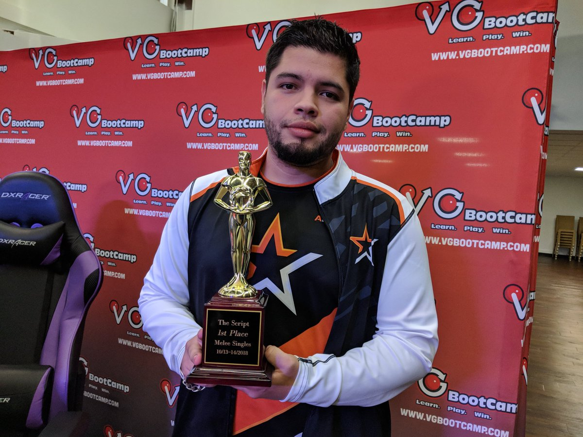 Congratulations to @n0ned for winning Melee Singles at #TheScript! That Oscar is looking Crisp! <br>http://pic.twitter.com/acHbS9lHHb