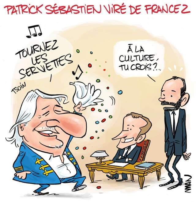 Remaniement à France 2 : Patrick Sébastien viré. (par @ManDessins) Photo