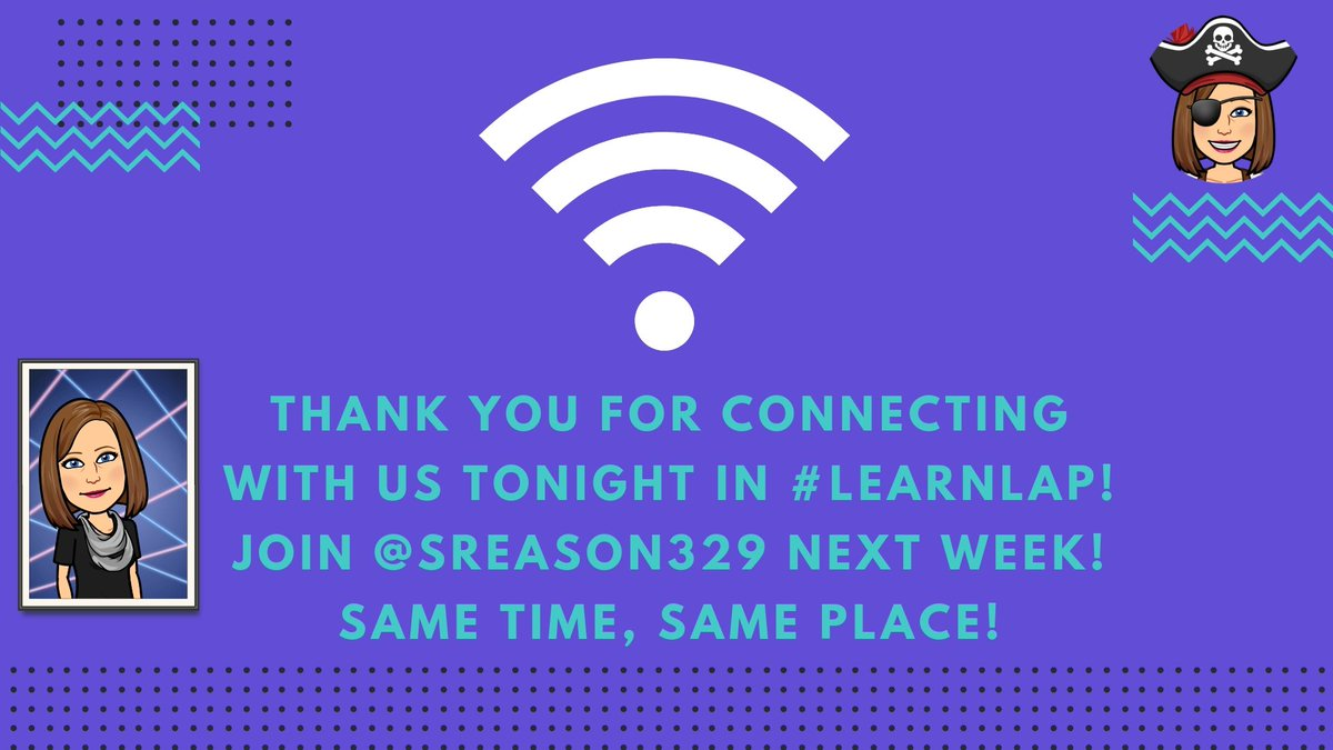 Thank you so much for connecting with us tonight in #LearnLAP! Hop on over to #tlap which starts now!