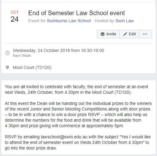 Swinburne Law School on Twitter: