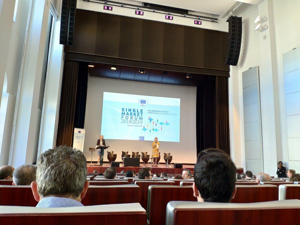@NormasUNE at #SingleMarketForum 2018/2019 on #CollaborativeEconomy : Opportunities, Challenges, Policies at #Brusells, 11 October 2018 pic.twitter.com/04EtBGIDrK