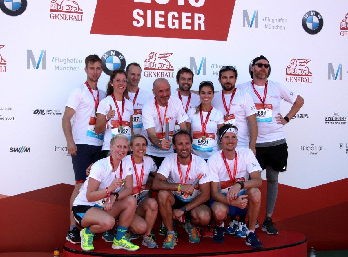 """Unsere """"Rheumakids in Motion"""" Marathonstaffelteams der TU München und Erl-Bau GmbH & Co. KG mit unserem Kuratoriumsmitglied Christian Neureuther, der in der Erl-Bau Staffel mitlief. Ihr seid spitze! #runGMM #rheumakidsinmotionpic.twitter.com/jpmzUhrWNk"""