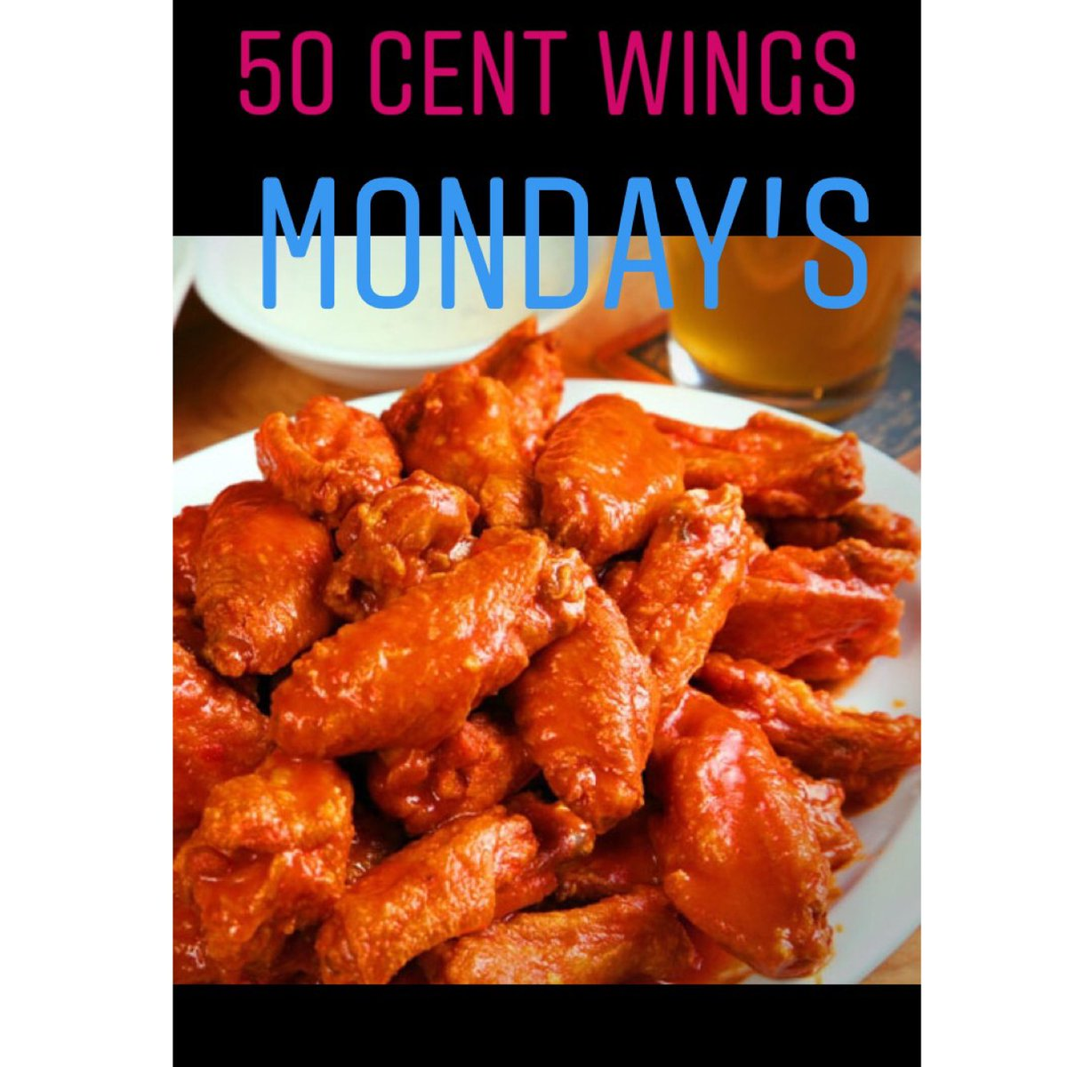 50 Cent Wings Every Mondays! ALL DAY * * * #itsinqueens #queensny #nyc #wings #neirs  #historicbar #chickenwings