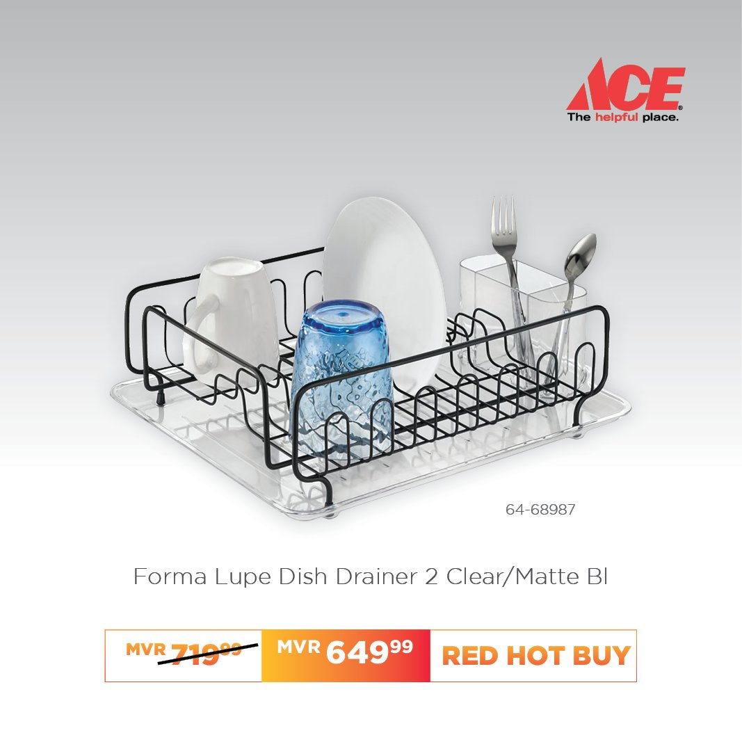 Ace Hardware Maldives On Twitter Forma Lupe Dish Drainer The Interdesign Forma Sinkware Collection Provides Modern Functionality For Your Kitchen Countertop Or Sink This Dish Drainer Has An Open Design That Allows