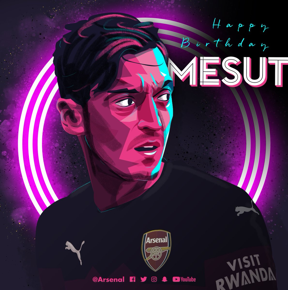 🎈 Our No 10 turns 30 today!   We hope you have a great birthday, @MesutOzil1088 ❤️