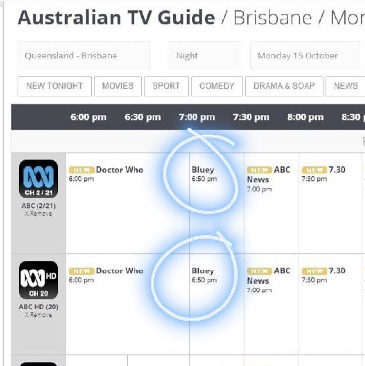 Our Show Bluey Airs After Drwho Tonight On At Abctv I Hope The Hard