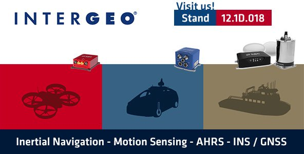Whatever your application is, discover our latest inertial navigation systems and post-processing solutions (demo on the stand) during Intergeo! @InsideIntergeo