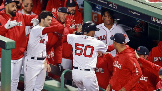 Red Sox rise to occasion, hold off Astros to even #ALCS Photo