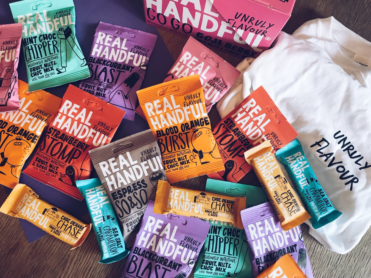 🎉#Competition 🎉We've teamed up with @RealHandful to #giveaway this jumble bundle of unruly snacks! To enter:  1) Follow @greenjinn & @RealHandful 2) Like and RT this tweet!  ENDS 21/10  P.S. Get 50% off Real Handful snacks at Sainsbury's this week only using the GreenJinn app💚