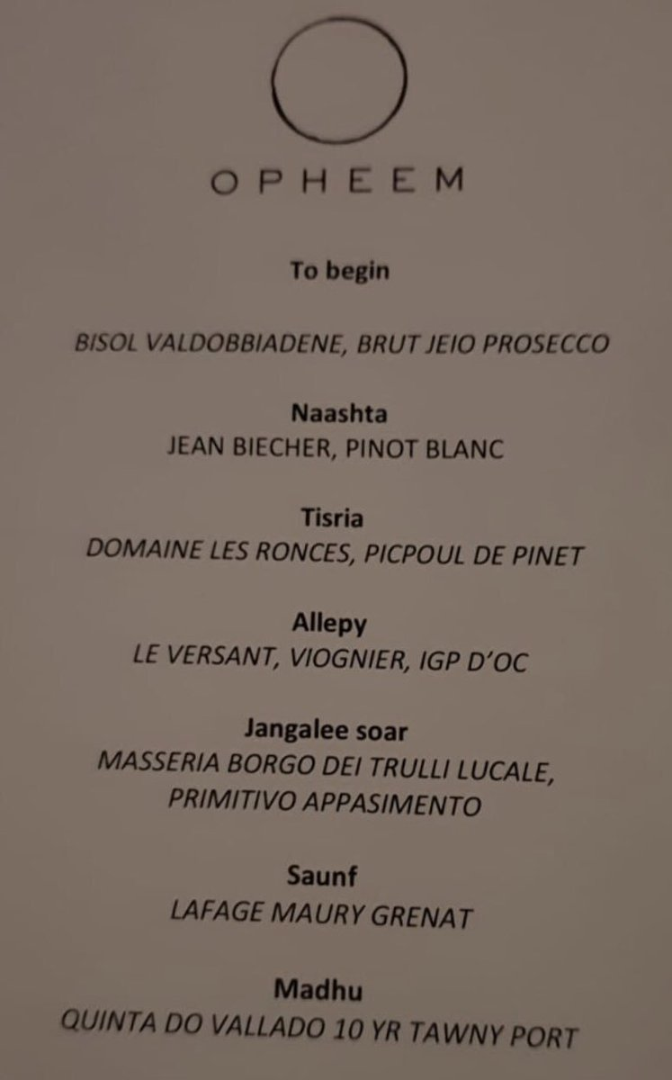 And of course the accompanying wine flight