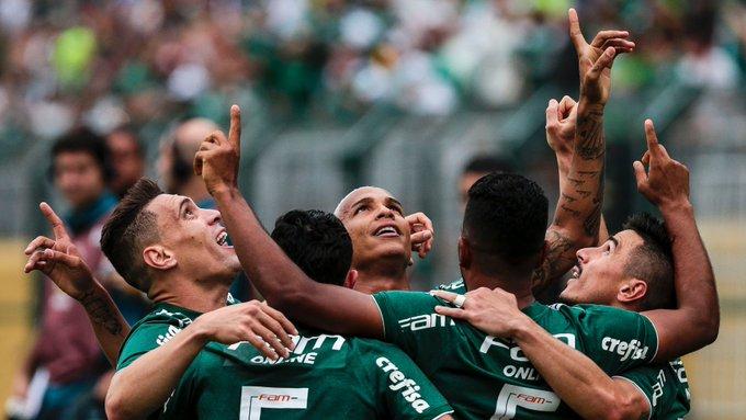 29ª rodada do Brasileirão   Deyverson é decisivo para manter vantagem do Palmeiras Foto