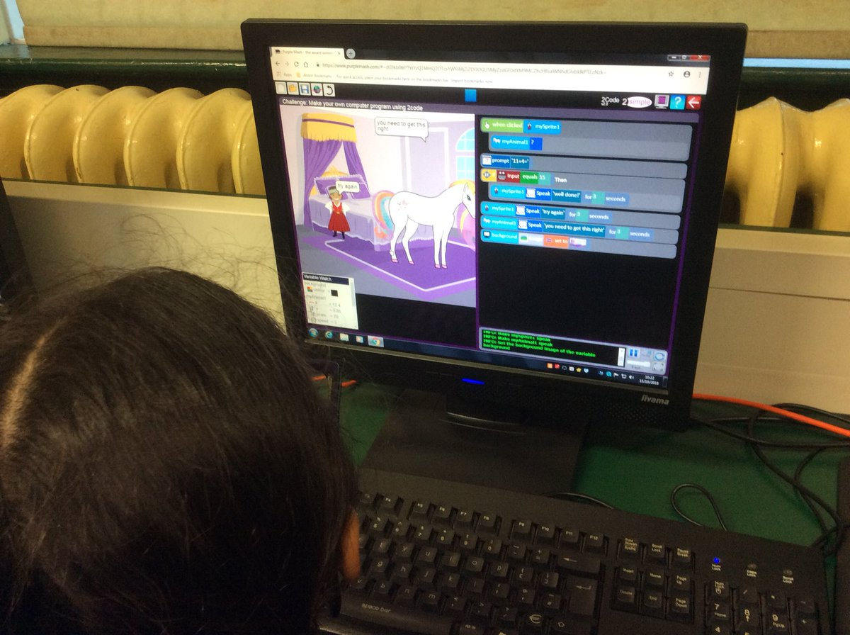 Alston Primary On Twitter Year 3 Are Learning About If Commands Personal Computer Hardware In Our Coding Lessons This Week Computing 2simplesoftware Purplemash