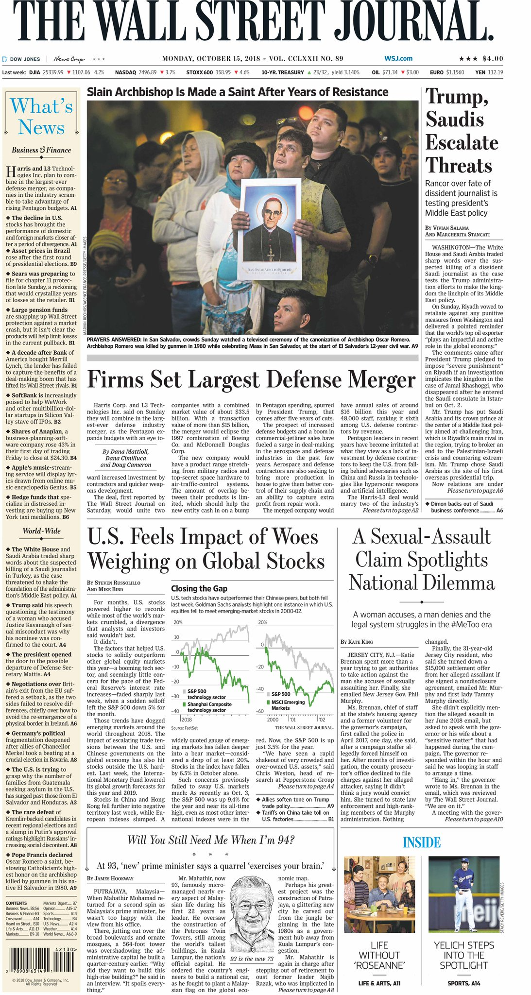 Take an early look at the front page of The Wall Street Journal https://t.co/5xQPDPcm8q https://t.co/8Kbmr4raZk