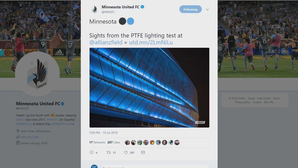 You've seen the lights on outside, #sunrisers...but this morning we're giving you a look inside the new Allianz Field! Follow along with @alicialewisKARE on #kare11sunrise!