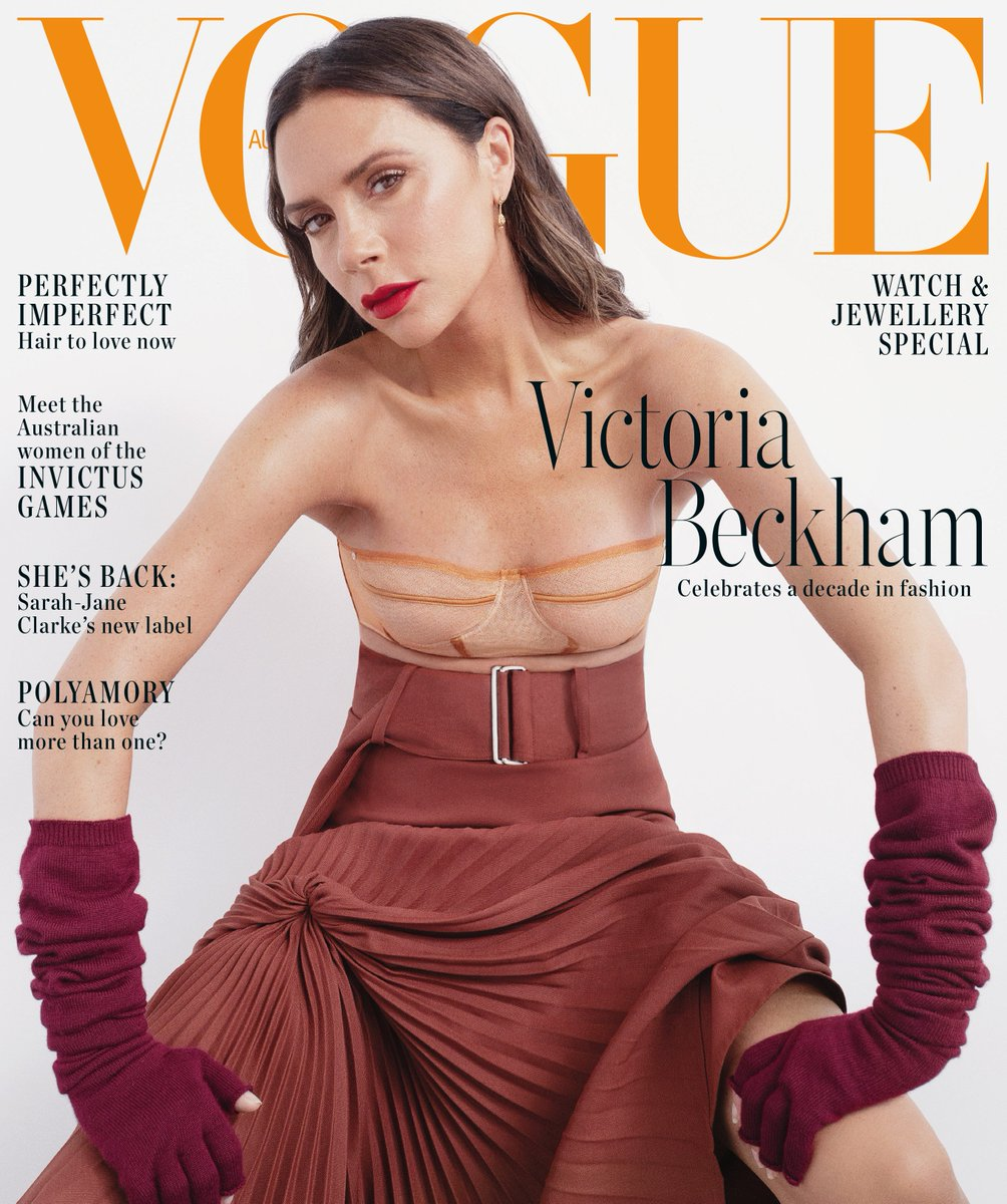 Thank you @vogueaustralia for celebrating a decade of my brand with this November cover, wearing #VBAW18! Looking forward to visiting Australia next week! Shot by #BibiCornejoBorthwick Styled by #ChristineCentenera x Kisses VB #VBSince08