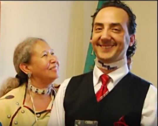 I LOVE This Photo Of @VinceSchilling With Chief Of the Nottoway Lynette Allston.