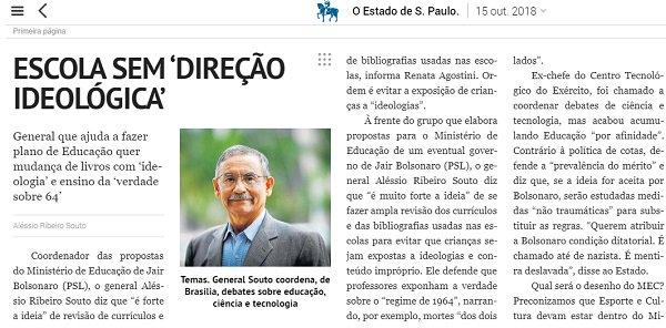 A 'Escola com Partido' de Bolsonaro - https://t.co/HcJjA4ZBeS