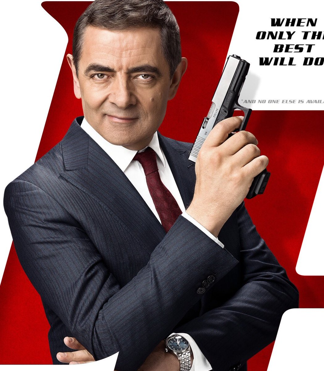 """Now my older (&amp; I would say uglier) brother has occasionally been mistaken for #RowanAtkinson (&amp; Marc Almond) which made it a little close to home when taking Millie n' Matt to the brilliant new #Johnnyenglish film, he uses the name """"Basil Golightly"""". Kids loved it. #Coverblown<br>http://pic.twitter.com/x2GUTLKMmF"""