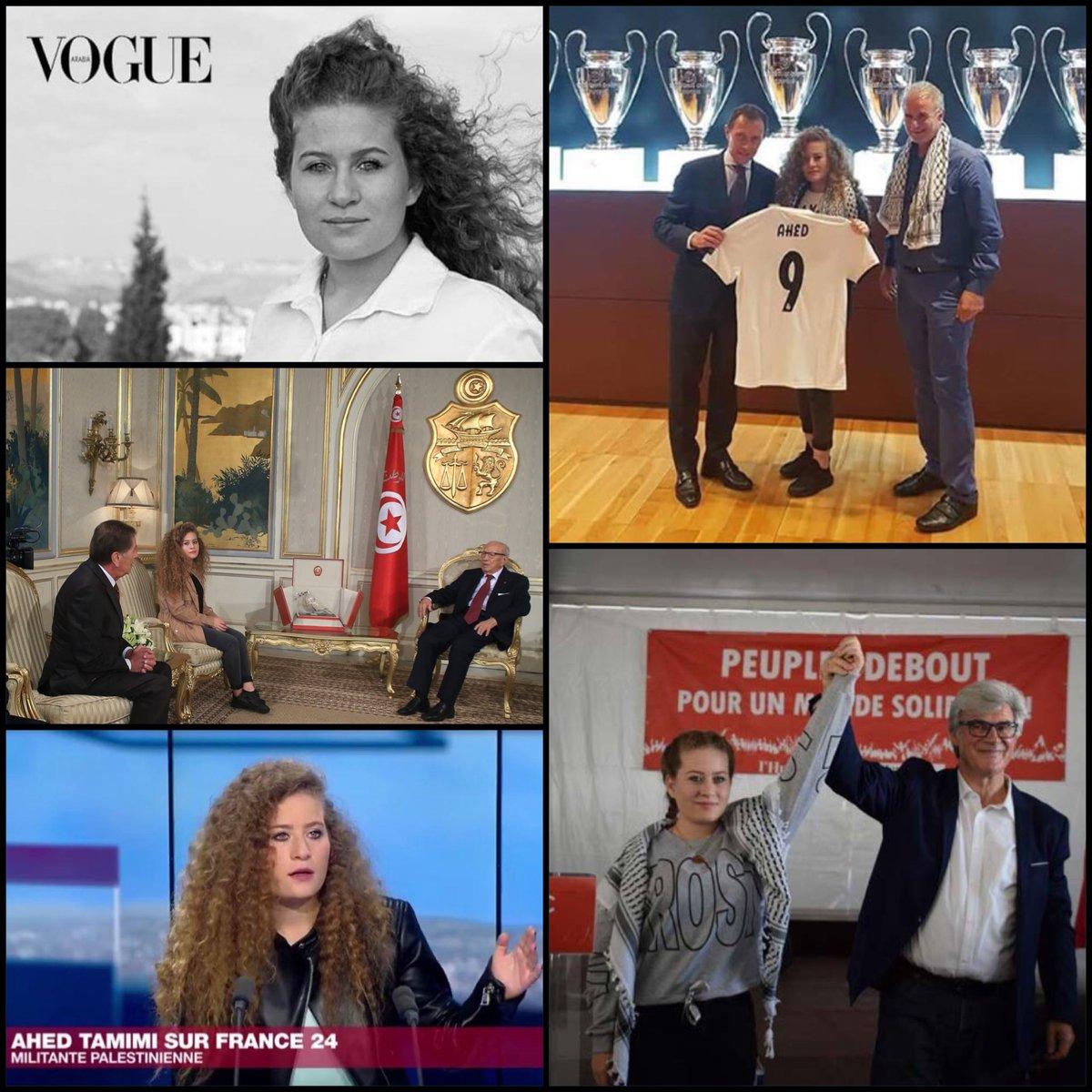 """Pour avoir giflé un soldat israélien, les médias ont fait d'Ahed Tamimi une """"icône"""". Depuis, elle a été reçue par le Président tunisien, le Real Madrid, fait la Une de Vogue,...Comme quoi, soutenir les terroristes du Hezbollah, inciter à la haine et à la violence, ça paye bien.  - FestivalFocus"""
