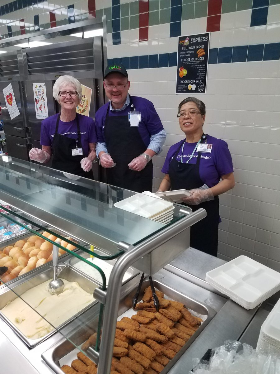 """Cy-Fair Nutrition on Twitter: """"@BleylCFISD Power Up Cafe had a special  guest server at lunch today, Mr. Bill Powell, Asst. Superintendent of  Support ..."""