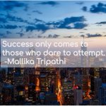 """Image for the Tweet beginning: """"Success only comes to those"""