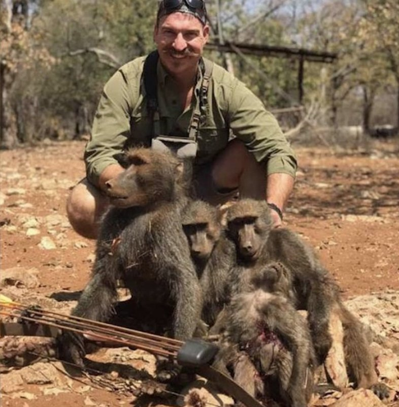 Idaho Fish & Game Commissioner Blake Fischer went to Namibia, murdered at least 14 animals, including an entire family of baboons, a giraffe & a leopard, then boasted about it online with pics (graphic). Several former Commissioners demand his resignation https://t.co/ePrnhBrbNw
