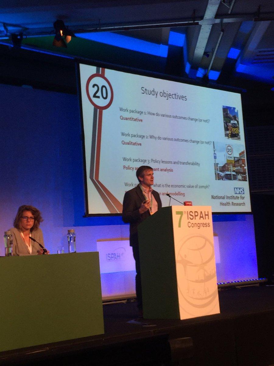 Paul Kelly @narrowboat_paul  reported reductions in average speed following #20mph / #30kph implementation in #Edinburgh @the20effect @20splentyforus  #ISPAH2018