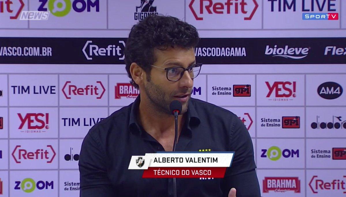 Valentim: 'A torcida do Vasco se faz sentir muito forte. Todo mundo sente.'   #SportvNews