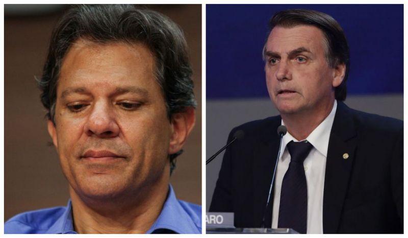 BTG/FSB: Bolsonaro tem 59% dos votos válidos; Haddad, 41% #eleicoes2018 https://t.co/AC3cn2HBDI