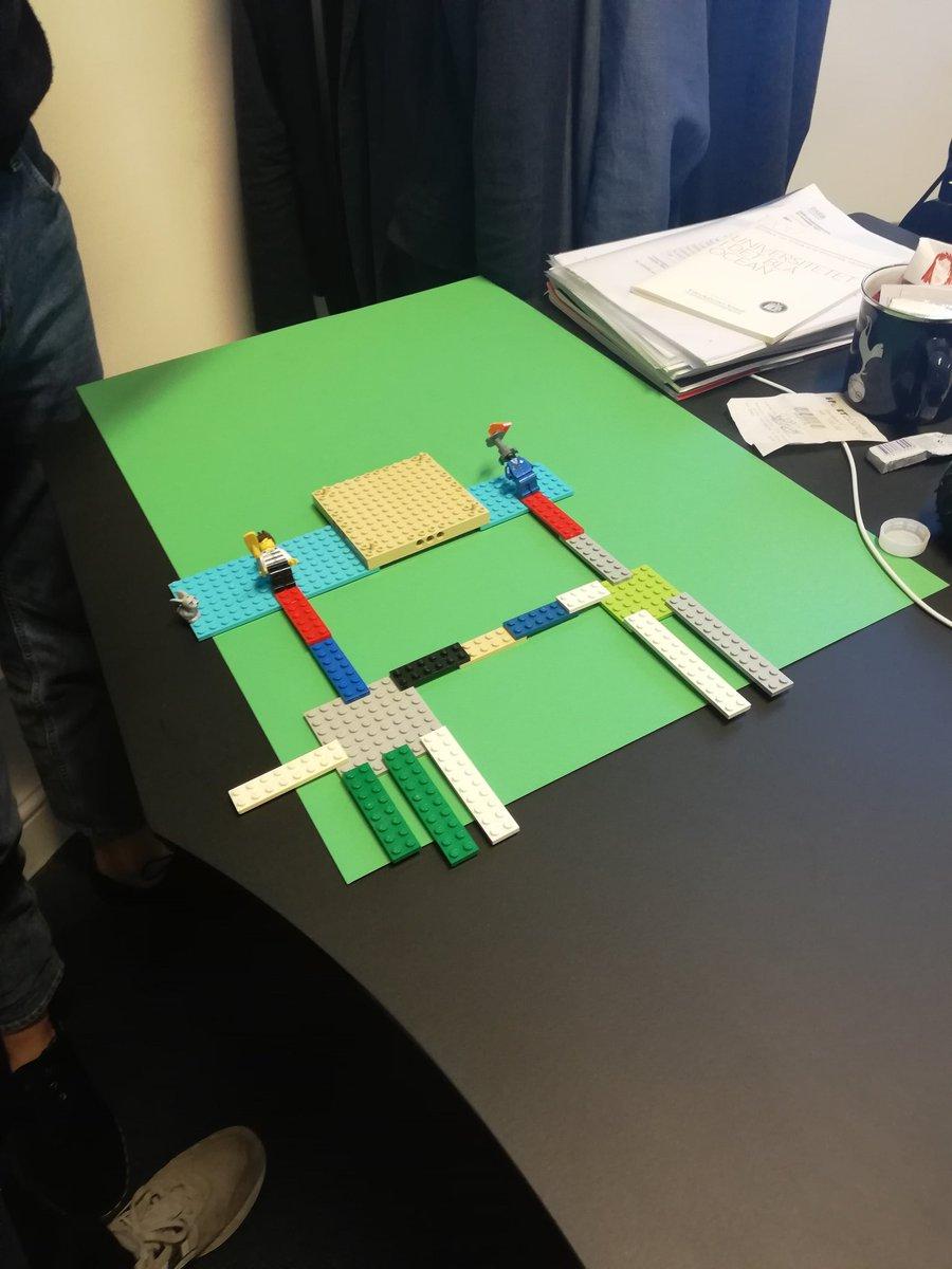 """test Twitter Media - """"Kan du se en fritgående palme nogen steder?"""" Vi har fået 18 unge til at bygge deres drømme-ungdomsuddannelsessystem i Lego. Det er på alle måder en sjov oplevelse #uddpol #skolechat https://t.co/8SbjEjyx5H"""