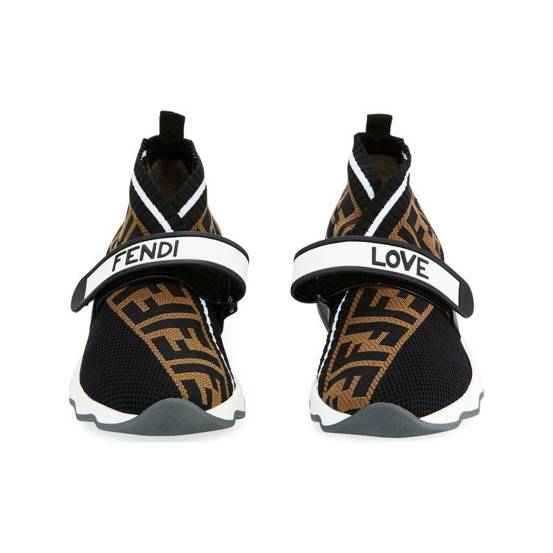 Fendi Rockoko FF Knit Sneakers. Shop