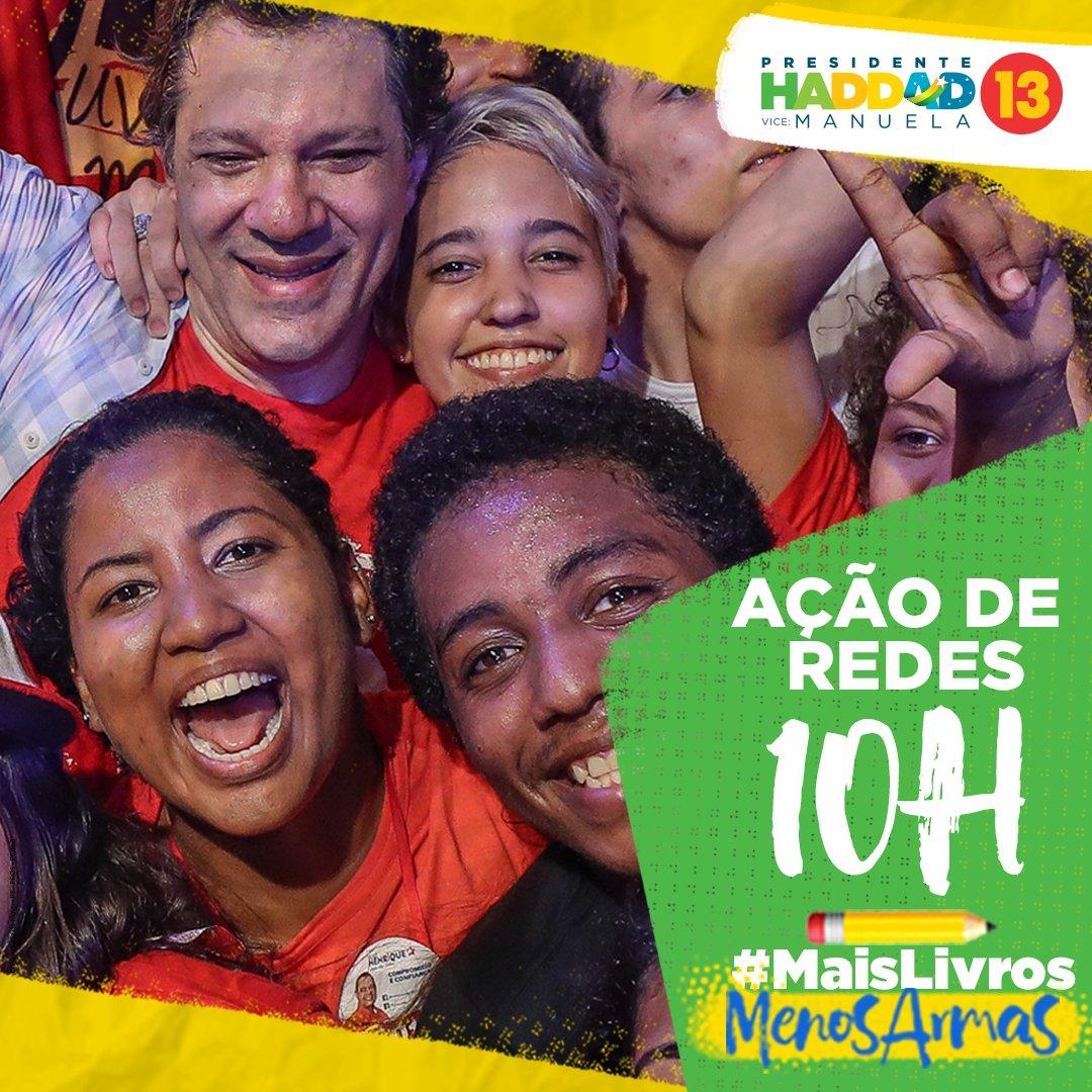 Comente essa ação com a hashtag #MaisLivrosMenosArmas