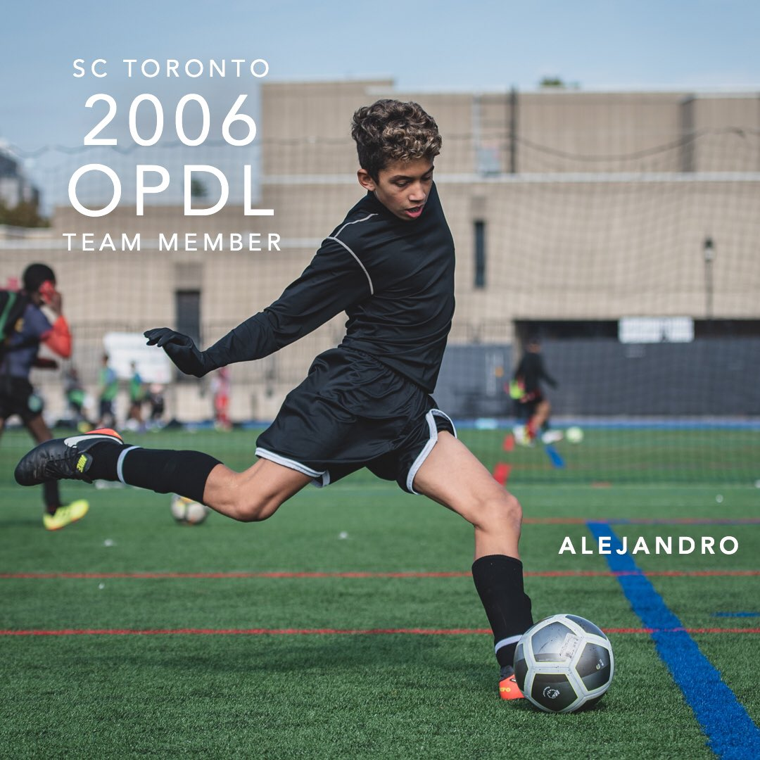 Congratulations Alejandro for earning a spot on the 2006 SC Toronto OPDL Team #SupportLocalFootball #Toronto #2006Boys  #SCToronto #TorontoSoccer #SoccerInTheSix #OPDL #OntarioSoccer #PlayInspireUnite #Football #Soccer #Canada2026 #TheBeautifulGame
