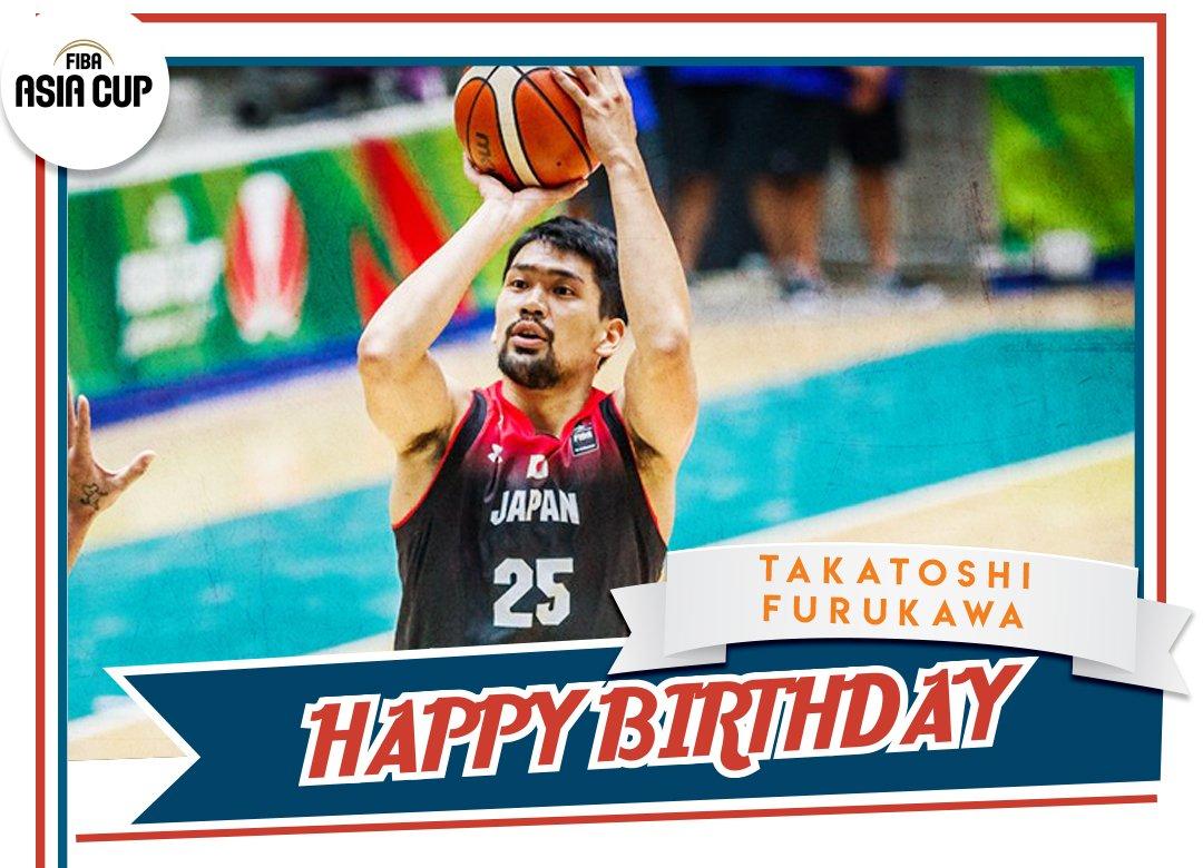 🎂お誕生日おめでとうございます 🎂to @JAPANBASKETBALLs Takatoshi Furukawa 🏀🇯🇵 #FIBAAsiaCup #バスケットボール #HappySaturday