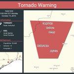Image for the Tweet beginning: Tornado Warning including Angleton TX,