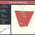 Image for the Tweet beginning: Tornado Warning continues for Rosharon