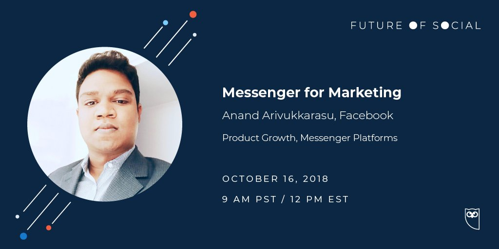 Curious about Facebook Messenger for marketing? Tune in to the #FutureofSocial live stream tomorrow to hear more about Messenger Ads case studies and best practices with @facebook: ow.ly/jnVw50jnCGR