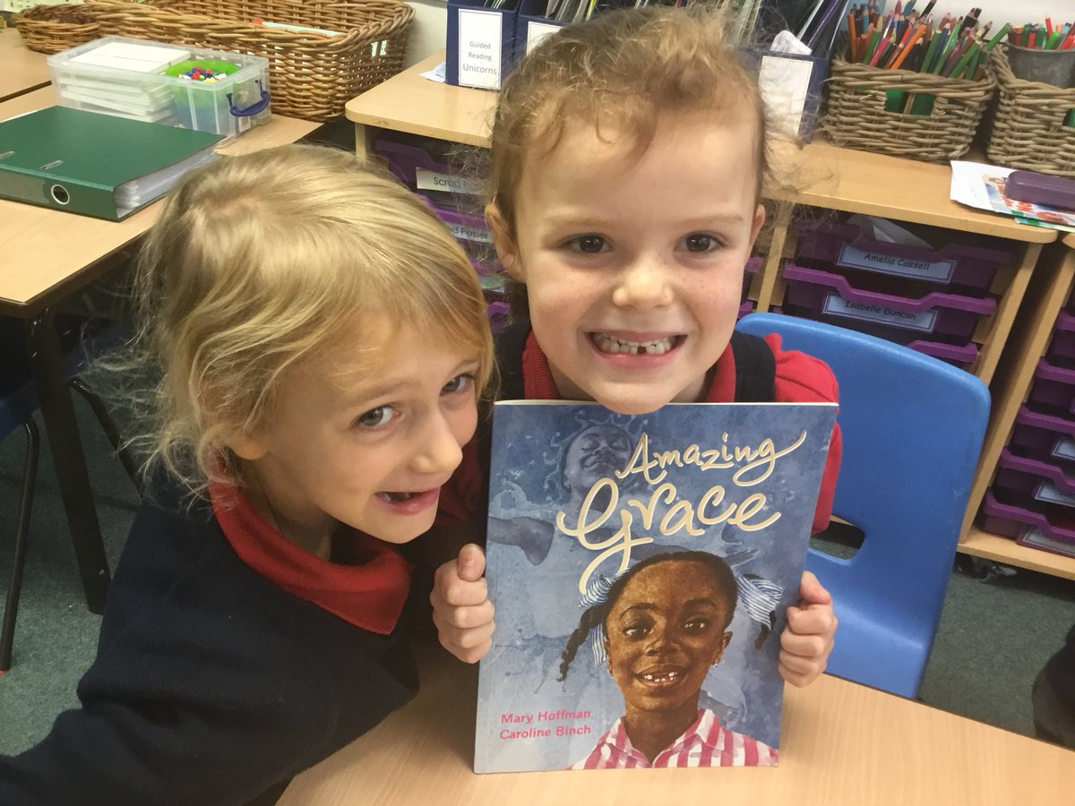 test Twitter Media - Moving on to a new book from the Y1 bookshelf... Amazing Grace by Mary Hoffman. Immersion Day has resulted in some amazing pieces of work and discussions #Gorseypshe https://t.co/4cuzmUSnqe