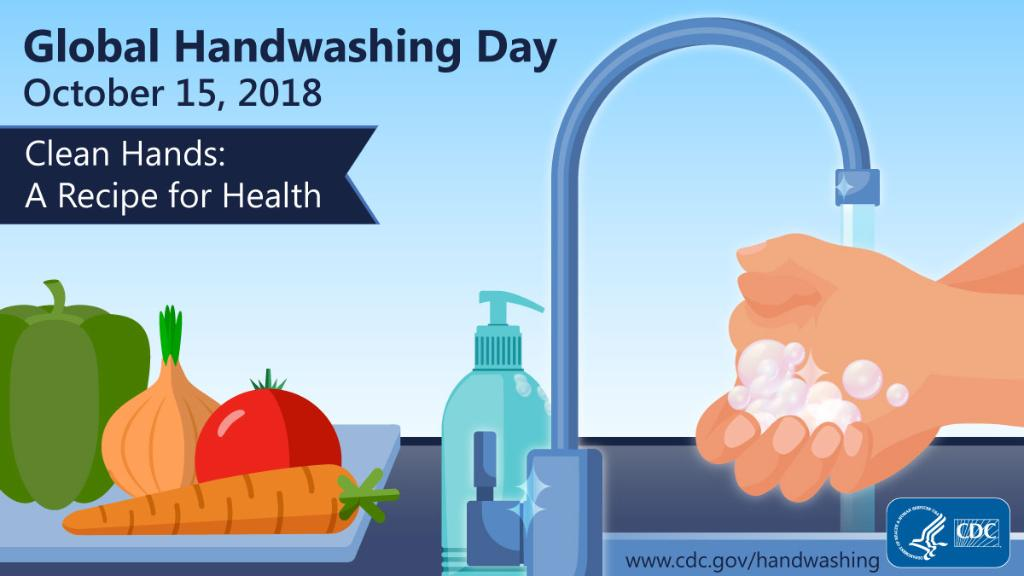 It's #GlobalHandwashingDay! Before, during, and after handling food, wash your hands to avoid getting yourself sick and spreading germs to others. https://t.co/Tt87J3DI5j