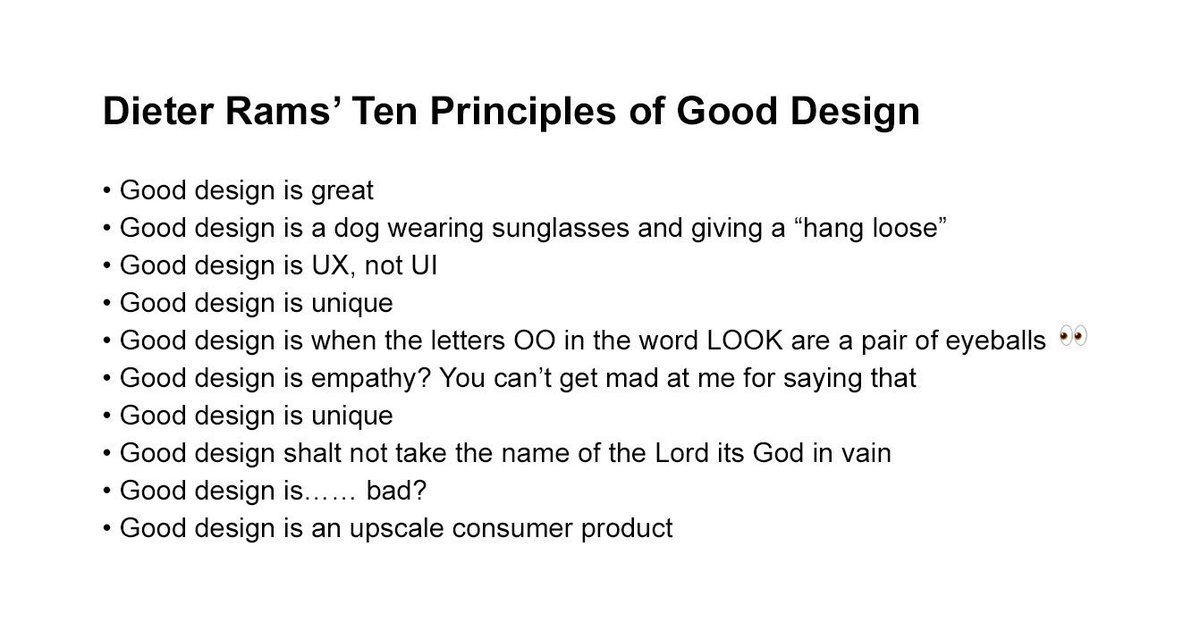Fellow #designers, it's time to remember the Ten #Design Comandments by the one and only #dieter Rams…