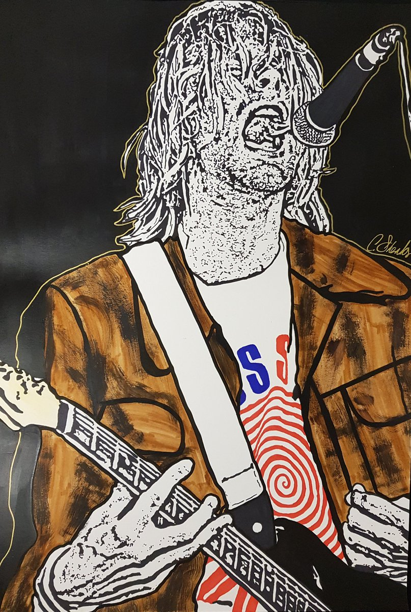 Listening to Nevermind on a rainy Monday afternoon is what it&#39;s all about.   What&#39;s your favourite @Nirvana track? Mine is &quot;Drain You&quot;    Hand drawn by myself on A3 heavyweight paper using @Sharpie pens  <br>http://pic.twitter.com/AM8dVAHHhI