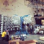 Image for the Tweet beginning: Installation of #EdgeofChaos @cinekidfestival @westergasfabriek