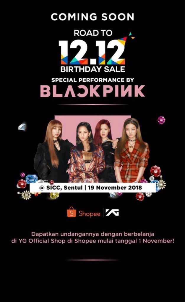 #BPBUPDATES | BLACKPINK is scheduled to perform in SICC, Sentul (in Indonesia) this November 19!   @ygofficialblink #BLACKPINK<br>http://pic.twitter.com/CDvOaiUjgH