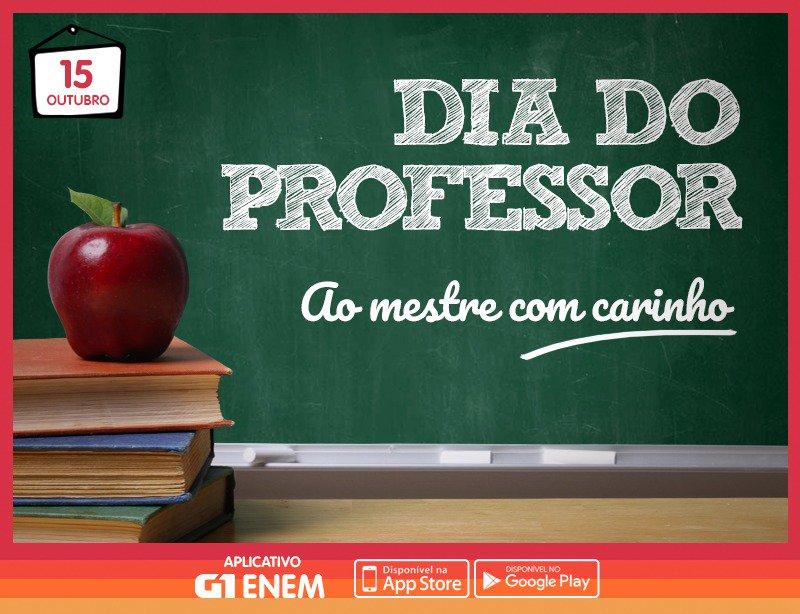 Lembre daquele amigo professor e diga obrigado por toda a dedicação! #G1 #ENEM