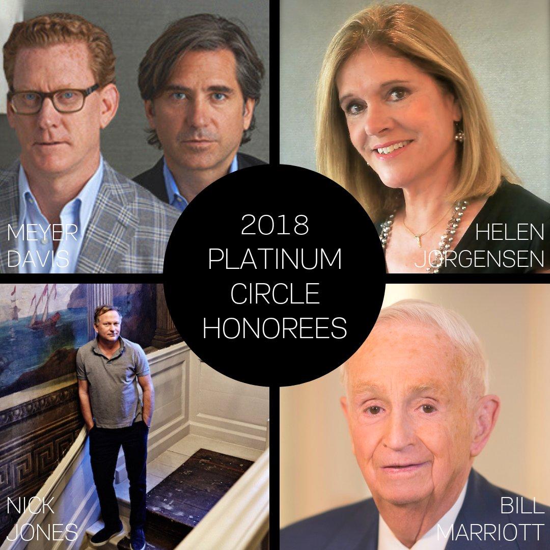 Resultado de imagen para Platinum Circle 2018 Honorees Announced
