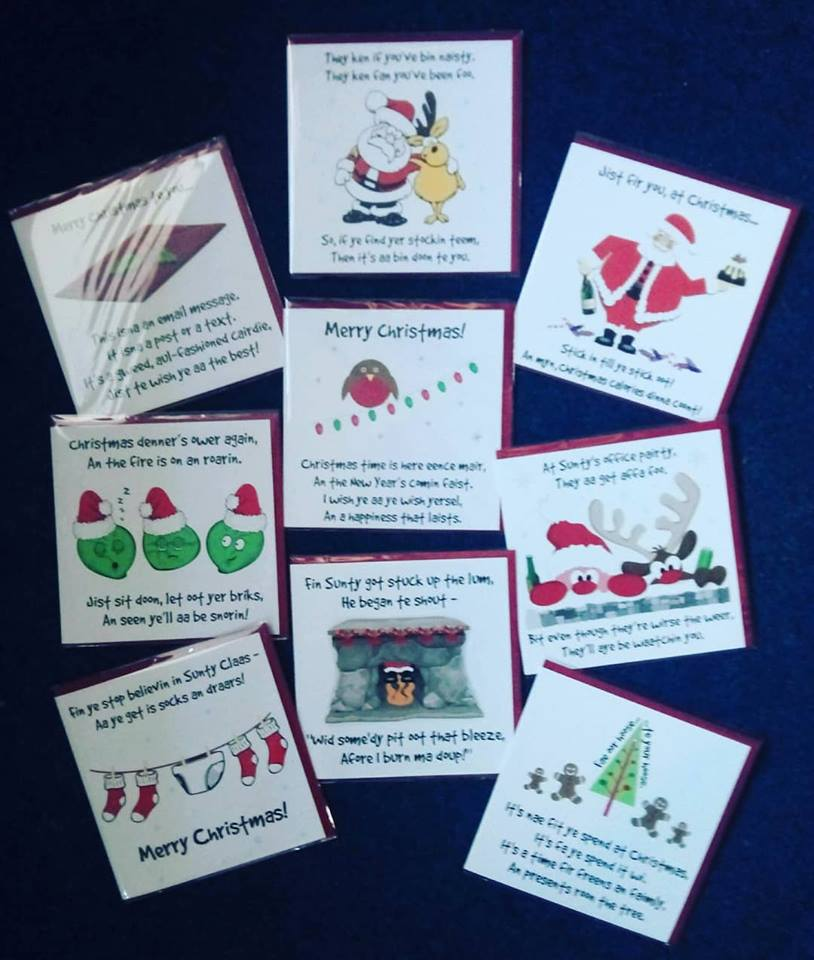 Ethical Gift Shop On Twitter Doric Christmas Cards Now In Stock Send Your Christmas Greetings In The Local Doric Language Doric Christmascards Handmadeinscotland Ethicalgiftshop Huntlyscotland Dottyabootdoric Https T Co Kneie6nbxm