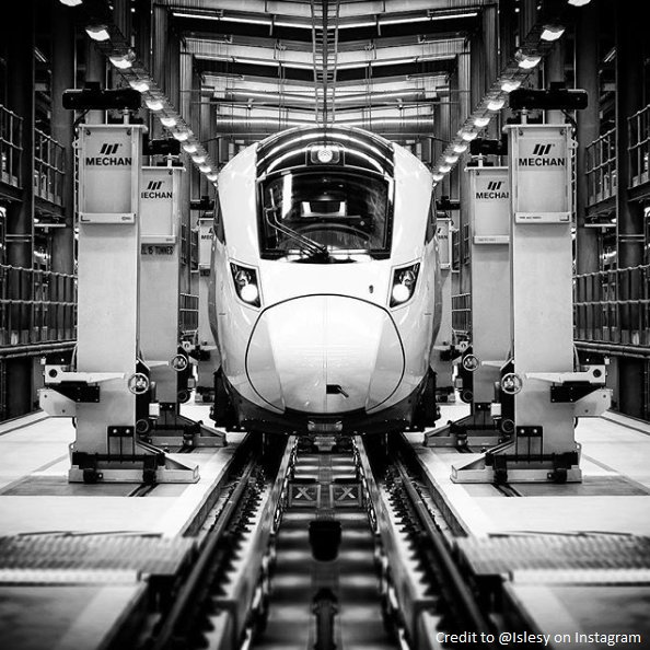 Are you ready for the arrival of these bad boys? Here's an #Azuma in the making at #Doncaster depot. Photo credit: Paul Isles on Instagram