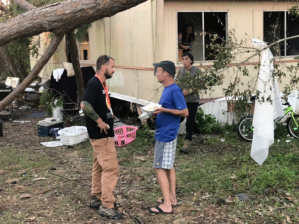 Callaway is a community next to Panama City that is struggling with major damage and little access to food+water. Our team went door-to-door with hot food last night and today we will be back. #ChefsForFlorida<br>http://pic.twitter.com/zbAQuKBcpz