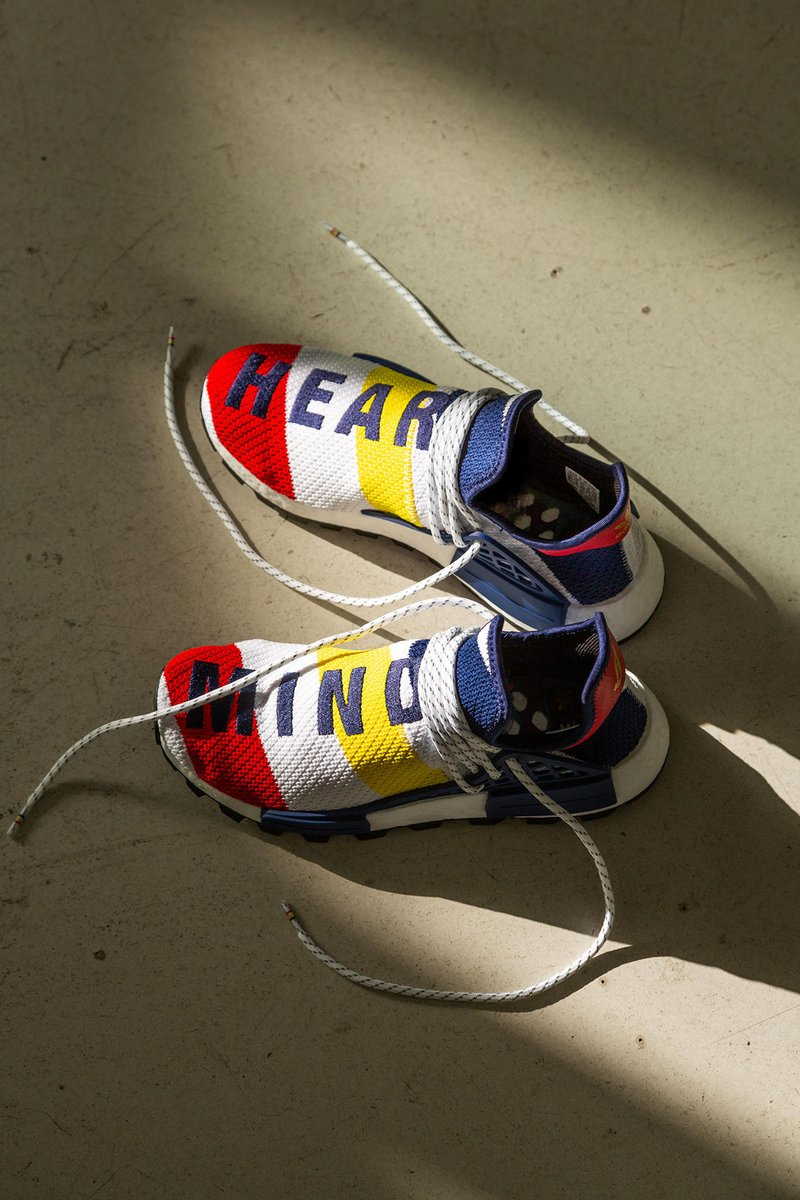 3a32df40f2853 Sign up online for a chance to buy the Adidas NMD Hu BBC x Pharrell Williams  in Scarlet Multi. Enter raffle  http   bit.ly 2P1WVRy pic.twitter.com  ...