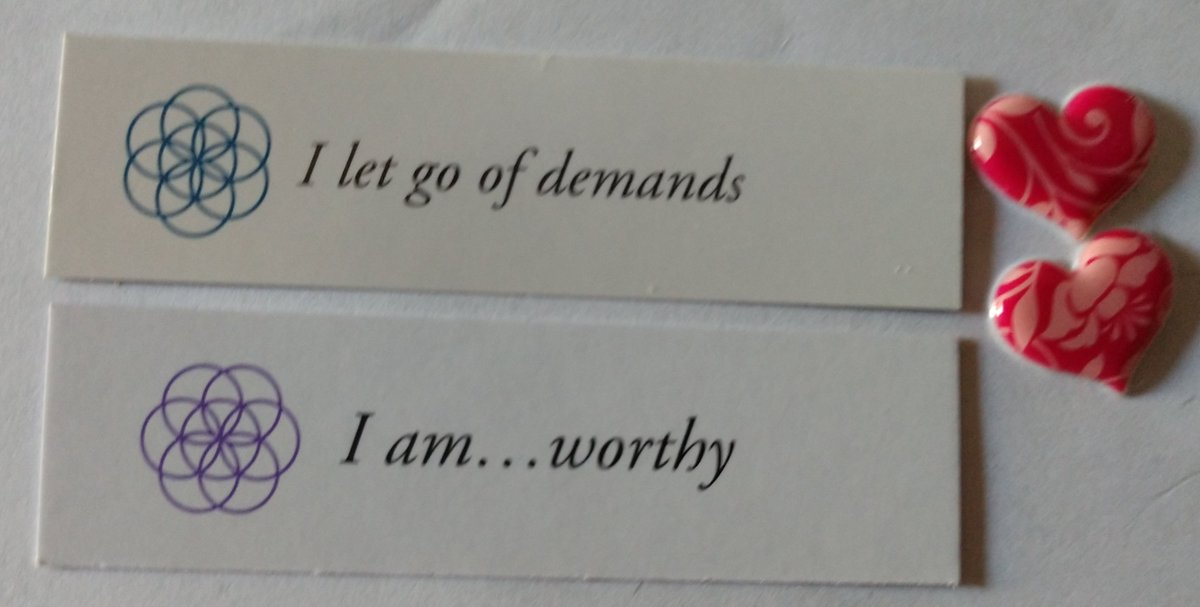 "test Twitter Media - Today's Positive Thoughts: I let go of demands and I am...worthy. Randomly selected from ""Letting Go"" and ""I am"" inspirational card sets. #affirmation https://t.co/FiVsMvPEnz"